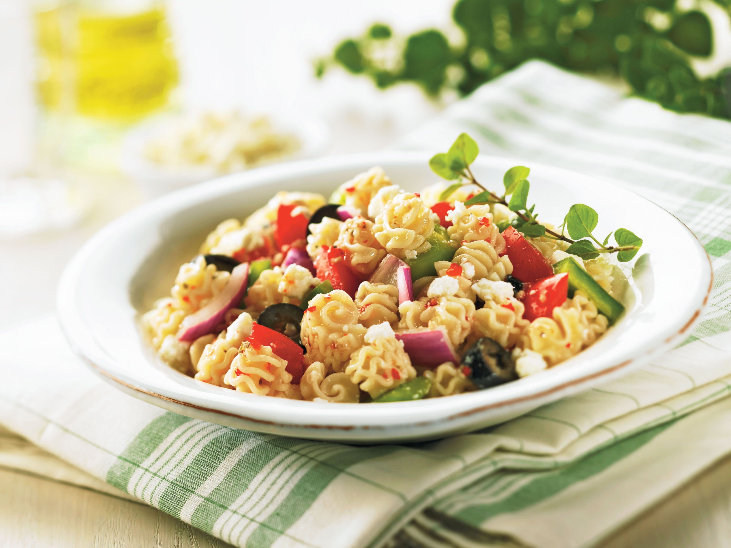 Flavors of the Mediterranean come to life with pasta in this great summertime salad recipe.